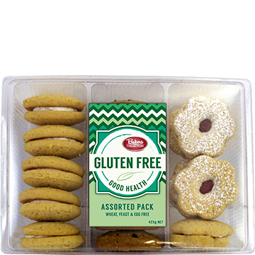 Bakers Collection® Gluten Free Assorted Pack 425g