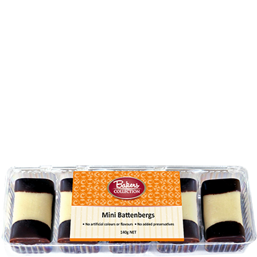 Bakers Collection® Mini Battenberg's 140g