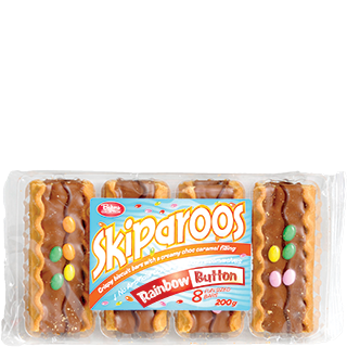 Bakers Collection® Skiparoos Rainbow Button Biscuits 8pk